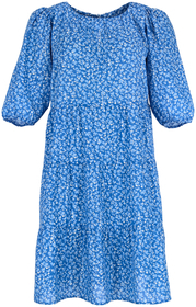 SHORT VOLANT DRESS WITH ELASTIC WAI