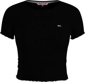 Cropped T-Shirt mit Logo-Stickerei