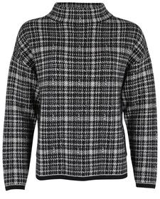 Wolle-Alpakamix-Pullover mit Stehkragen