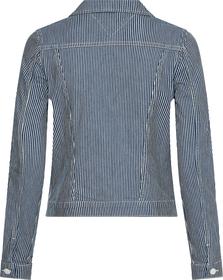 Slim Fit Jeansjacke mit Streifen