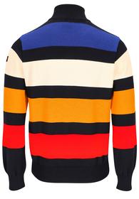 Pullover mit Reißverschluss aus Merinowolle mit ikonischem Badge