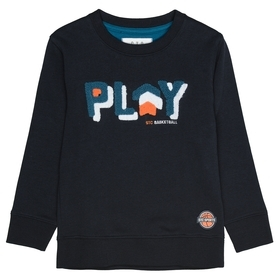 Sweatshirt mit Wording-Applikation