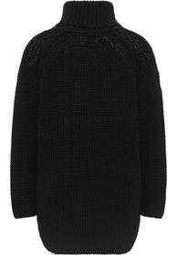 Grobstrick-Rollkragen-Pullover