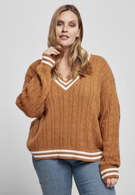 Ladies Short V-Neck College Sweater