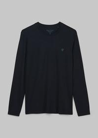 T-shirt, long-sleeve, round-neck, c