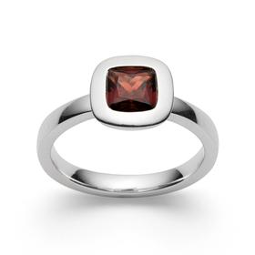 Ring,925/-pol.,Granat 1,30ct.