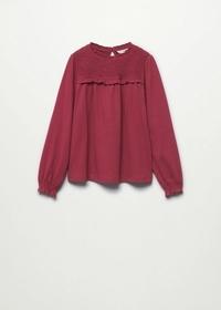 Langärmliges T-Shirt mit Raffdetails
