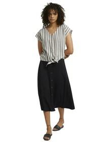 linen mix shirt with knot