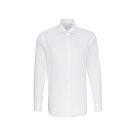 Bügelfreies Oxford Business Hemd in Shaped mit Kentkragen