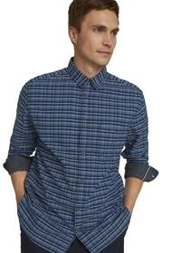 comfort checked oxford shirt