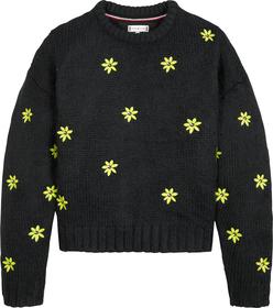 Pullover mit Blumen-Stickerei