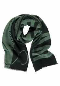 LTD QR Cosy Green Pliss# Scarf