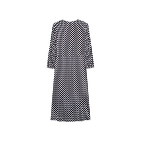 Krepp Maxi Kleid aus Viskosemischung