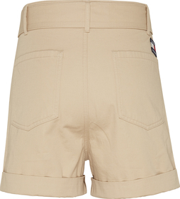 Mom-Shorts mit Gürtel und Tommy-Badge