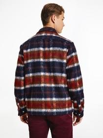 Wool Blend Check Overshirt