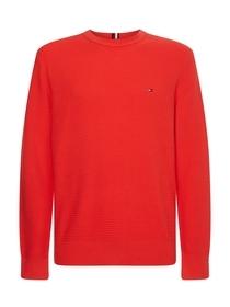 Pullover mit gestricktem Streifenmuster