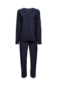 Gestreifter Jersey-Pyjama