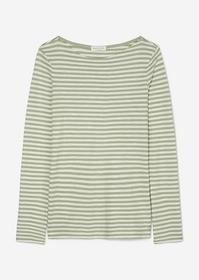 T-shirt, long sleeve,boat neck, str