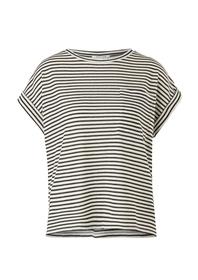 Jersey/Leinenmix-T-Shirt