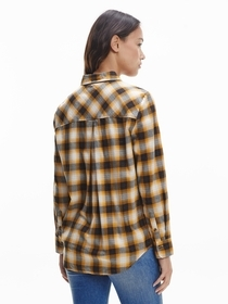Check Flannel Relaxed Shirt Ls