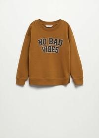 Sweatshirt mit texturiertem Schriftzug
