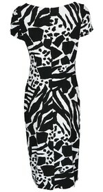 Kleid im Zebralook