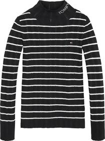Rib Turtle Pointelle Sweater
