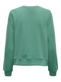 Pullover mit schimmerndem Textaufdruck