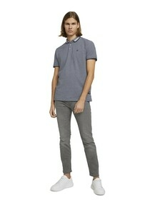 polo with two tone effect