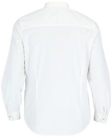 Curve gestreifte Hemdbluse aus Bio-Baumwolle