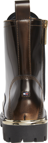 Polished Leather Lace Up Boot