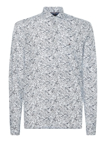 Slim Floral Print Knitted Shirt