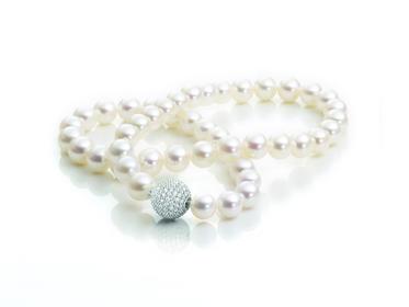 Perlencollier Silber