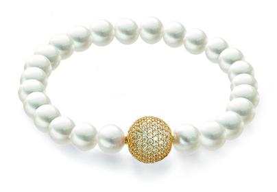 Perlenarmband Gold