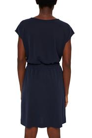 Kleid mit mattem Schimmer und Zierknöpfen