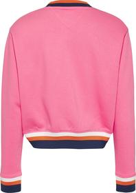 Sweatshirt mit Kontrast-Rippstrick