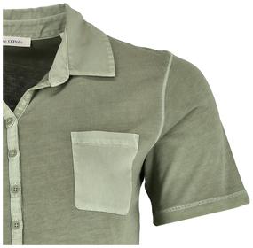 Kurzarm Poloshirt mit Material-Mix-Details