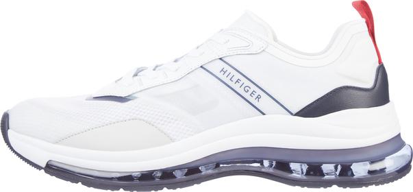 Sneaker mit Luftblasen-Sohle und Struktur-Mix