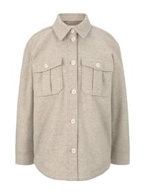 wool look overshirt