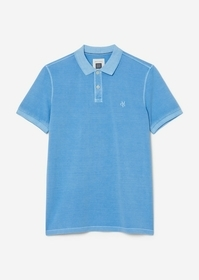 Polo shirt, short sleeve, button pl