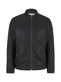 fake leather jacket