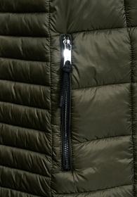 long asymmetrical padded vest