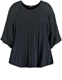 Ausgestellter Pullover mit Chiffon-Ärmeln