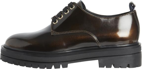 Polished Leather Lace Up Shoe