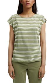 T-Shirt mit Knopfleisten, Organic Cotton