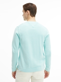 Bio-Baumwoll-Pullover mit Rundhalsausschnitt