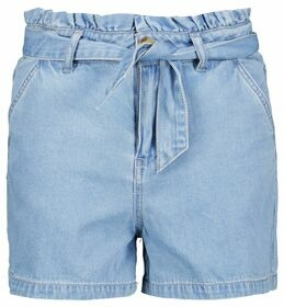 Jeansshorts in Paperbag-Form