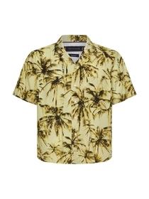 Kurzarm-Hemd mit Palmen-Print