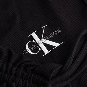 Cropped Langarmshirt mit Kordelzug