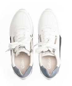 Sneaker low Materialmix Leder weiß